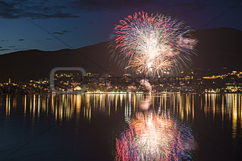 Fireworks on the Varese Lake, Gavirate