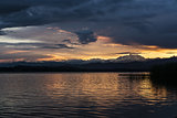 Sunset and Mount Rosa from Varese Lake
