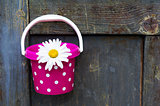 Bucket with flower