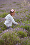Girl and lavender