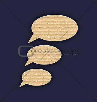 Speech bubbles made in carton texture