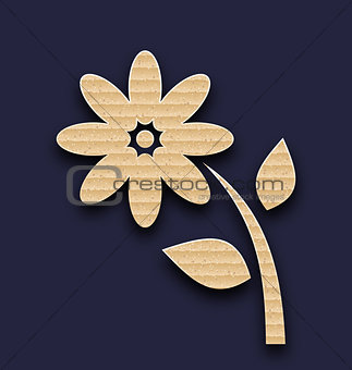 Carton paper flower, handmade background