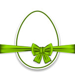 Easter celebration egg wrapping green bow