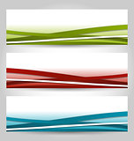 Set abstract colorful banners with lines