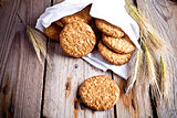 fresh crispy oat cookies and ears