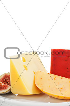 Delicious cheese background.