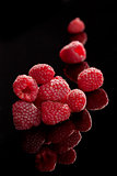 Raspberries isolated.