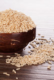 Brown rice background.