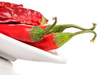 Fresh and dry chili pepper.