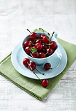 Sour Cherries in a Cup