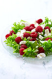 Raspberry Salad with Goat Cheese