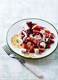 Kidney Bean Salad with Goat Cheese