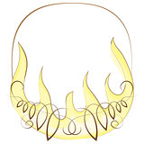 Frame with flame. vector illustration
