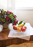 Plate of fruits on the table