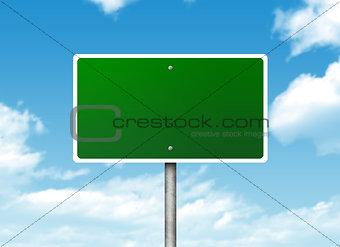 Crossroads road sign