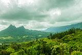 Olomana and Koolau Mountains
