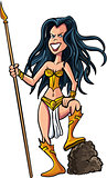 Cartoon female warrior