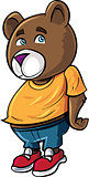 Cartoon cute brown bear