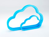 Cloud security concept. isolated white