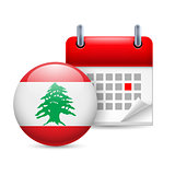 Icon of National Day in Lebanon