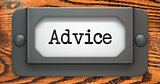 Advice - Concept on Label Holder.