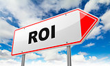 ROI on Red Road Sign.
