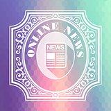 Online News. Pastels Hexagonal Background.