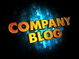 Company Blog Concept on Digital Background.