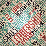 Leadership - Vintage Word Cloud Concept.