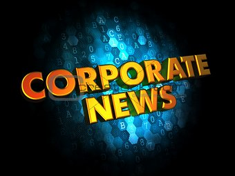 Corporate News on Digital Background.