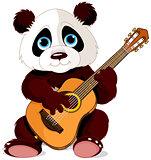 Panda guitarist