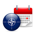 Icon of NATO flag and calendar
