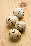 quail eggs on kitchen table