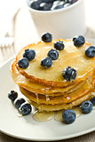 tasty pancakes with blueberries