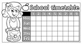 Coloring book school timetable 8