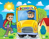 Image with school bus theme 6