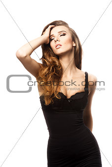 sensual girl with long hair
