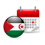 Icon of National Day in Sahrawi Arab Democratic Republic