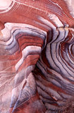 Sandstone gorge abstract pattern formation, Rose City cave, Siq,