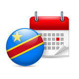 Icon of National Day in Democratic Republic of the Congo