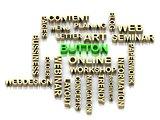 BUTTON 3d word colour bright letter