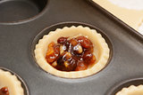 Mincemeat in pastry shell to make a mince pie