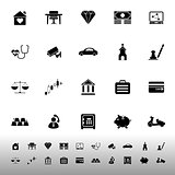 Insurance related icons on white background