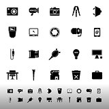 Photography related item iconscon white background