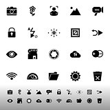 Photography sign icons on white background