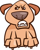 mood furious dog cartoon illustration