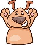 mood happy dog cartoon illustration