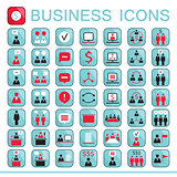 Set of web icons for business finance office communication human resources