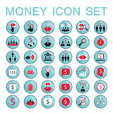 Set of 36 money related icons Business success saving earning money theme