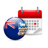 Icon of National Day on Falkland Islands